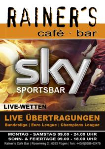 2 Rainers Sky Sportsbar Flyer A6