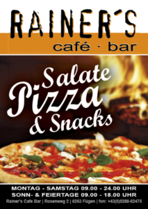 3 Rainers Pizza Flyer A6
